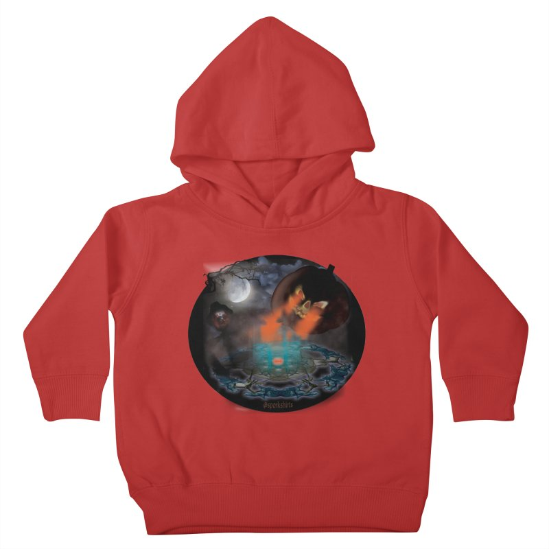 Evil Jack-o-Lantern Kids Toddler Pullover Hoody by Make a statement, laugh, enjoy.