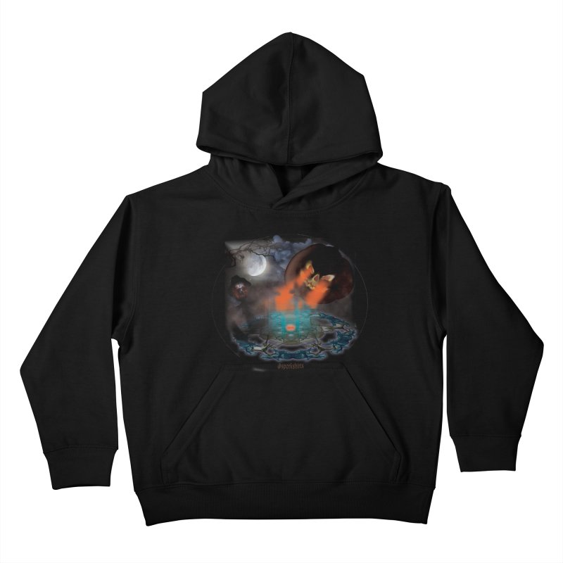 Evil Jack-o-Lantern Kids Pullover Hoody by Sporkshirts's tshirt gamer movie and design shop.