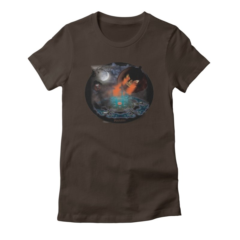 Evil Jack-o-Lantern Women's Fitted T-Shirt by Sporkshirts's tshirt gamer movie and design shop.
