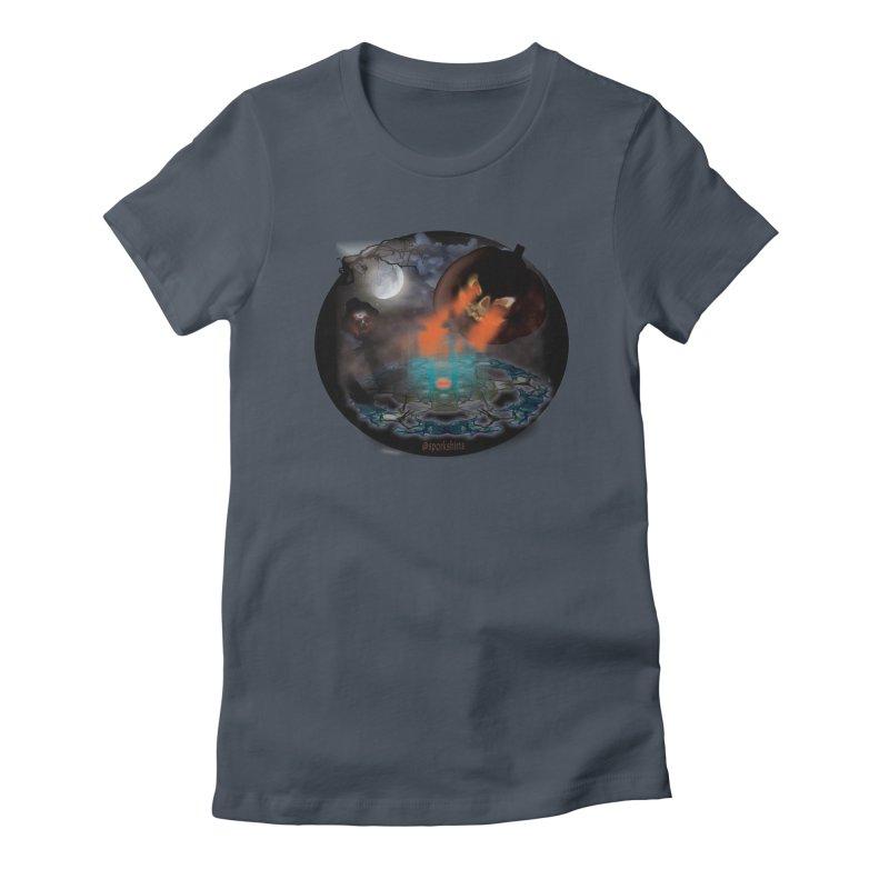 Evil Jack-o-Lantern Women's T-Shirt by Make a statement, laugh, enjoy.