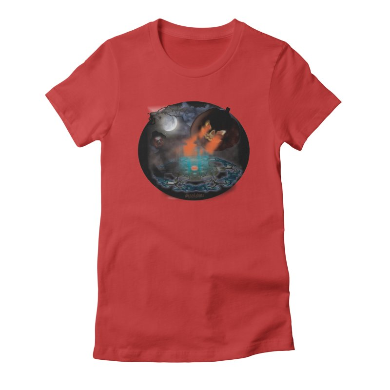 Evil Jack-o-Lantern Women's Fitted T-Shirt by Make a statement, laugh, enjoy.
