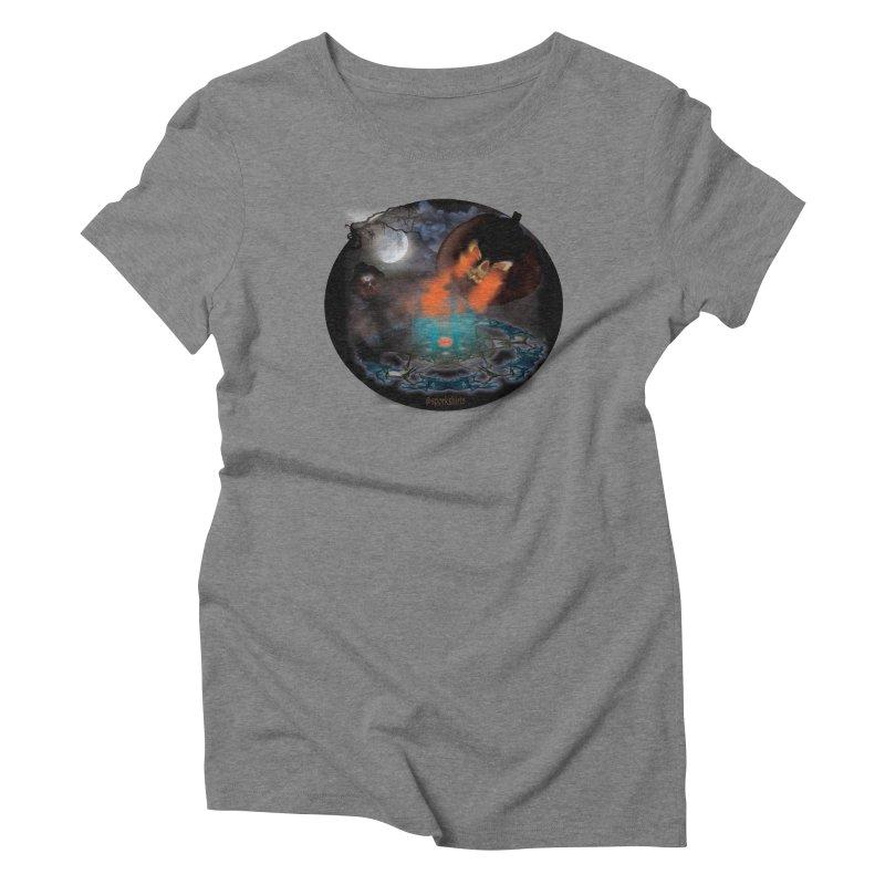 Evil Jack-o-Lantern Women's Triblend T-Shirt by Make a statement, laugh, enjoy.