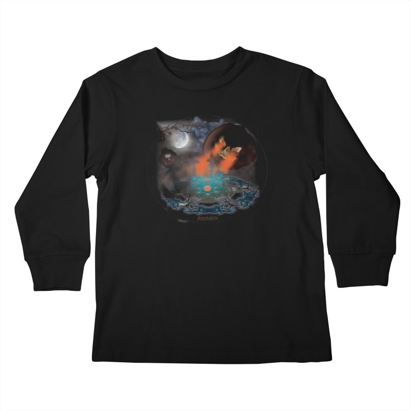 Evil Jack-o-Lantern Kids Longsleeve T-Shirt by Sporkshirts's tshirt gamer movie and design shop.