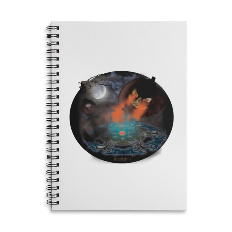 Evil Jack-o-Lantern Accessories Lined Spiral Notebook by Make a statement, laugh, enjoy.