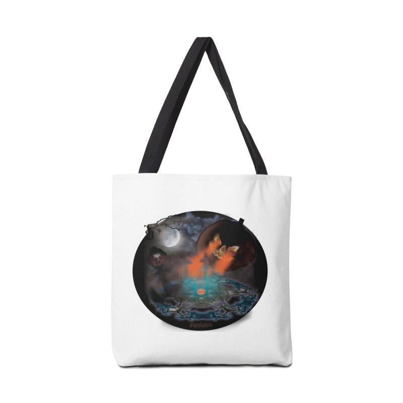 Evil Jack-o-Lantern Accessories Bag by Make a statement, laugh, enjoy.