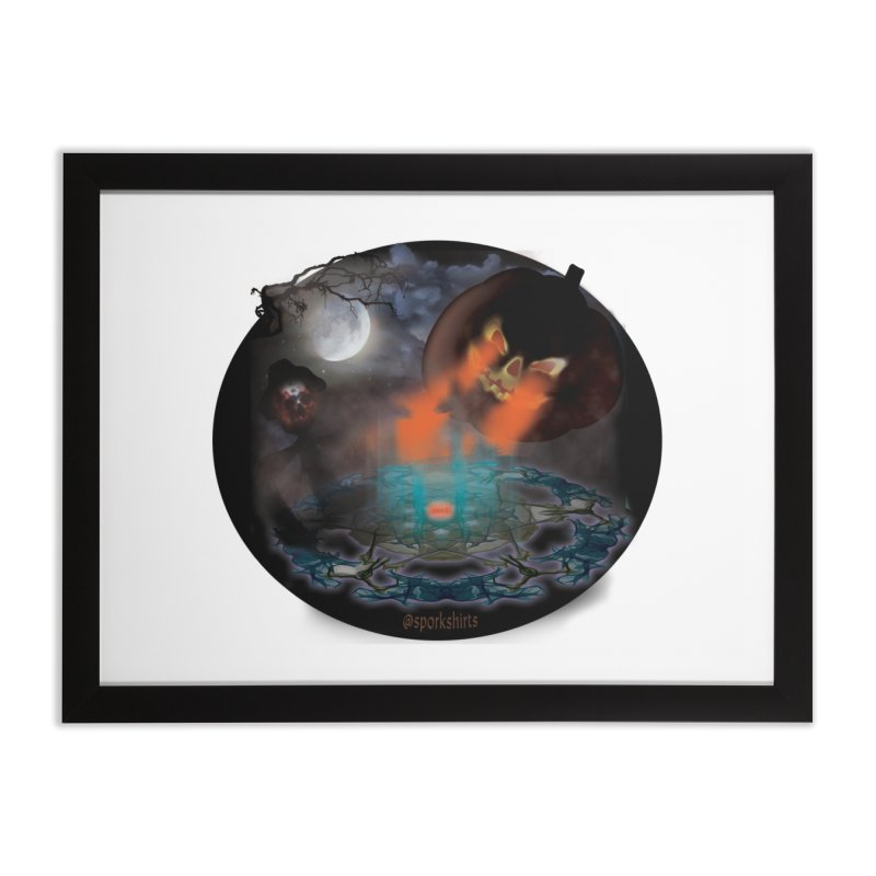 Evil Jack-o-Lantern Home Framed Fine Art Print by Make a statement, laugh, enjoy.