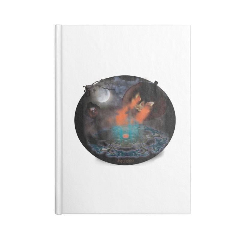 Evil Jack-o-Lantern Accessories Blank Journal Notebook by Make a statement, laugh, enjoy.
