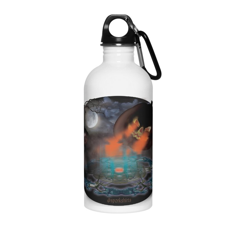 Evil Jack-o-Lantern Accessories Water Bottle by Make a statement, laugh, enjoy.