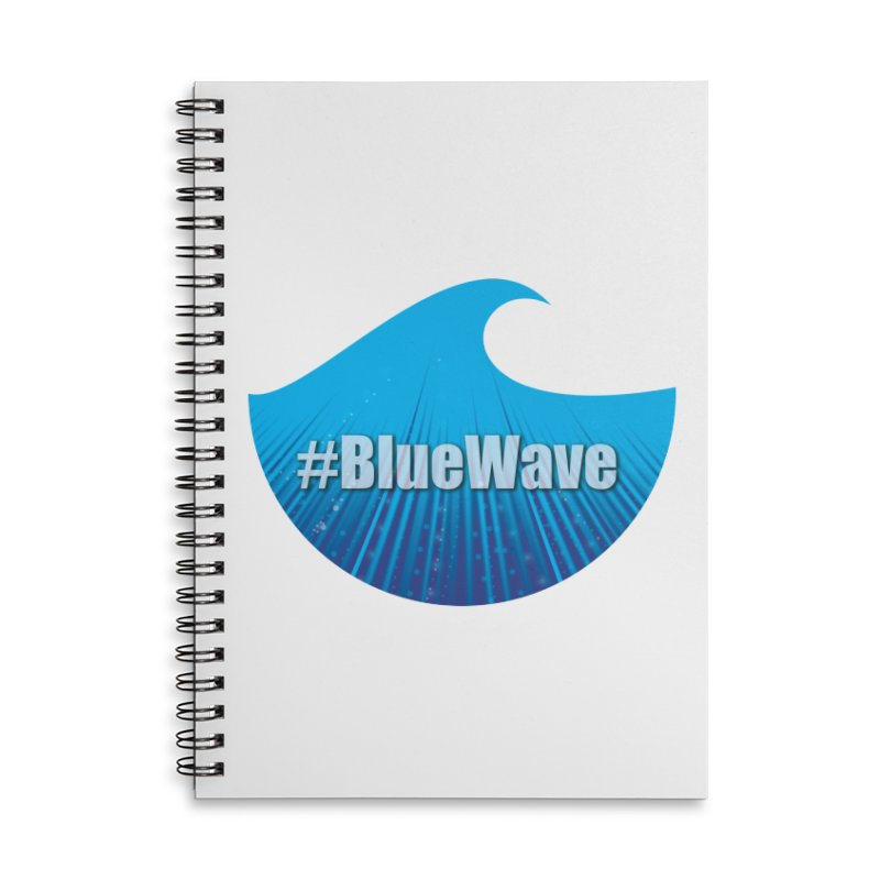 The Blue Wave Accessories Lined Spiral Notebook by Make a statement, laugh, enjoy.