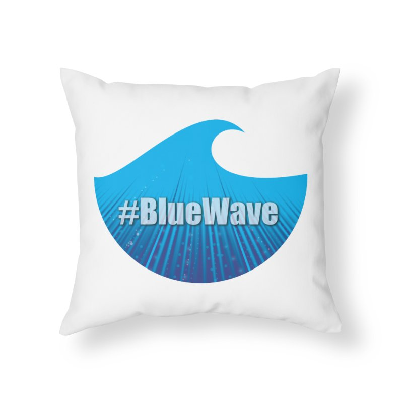 The Blue Wave Home Throw Pillow by Sporkshirts's tshirt gamer movie and design shop.