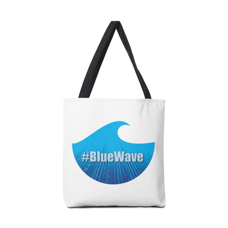 The Blue Wave Accessories Tote Bag Bag by Make a statement, laugh, enjoy.