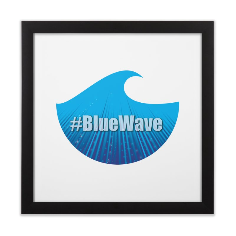 The Blue Wave Home Framed Fine Art Print by Make a statement, laugh, enjoy.