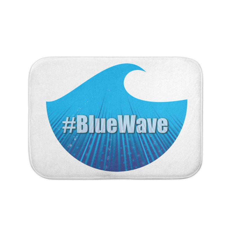 The Blue Wave in Bath Mat by Sporkshirts's tshirt gamer movie and design shop.