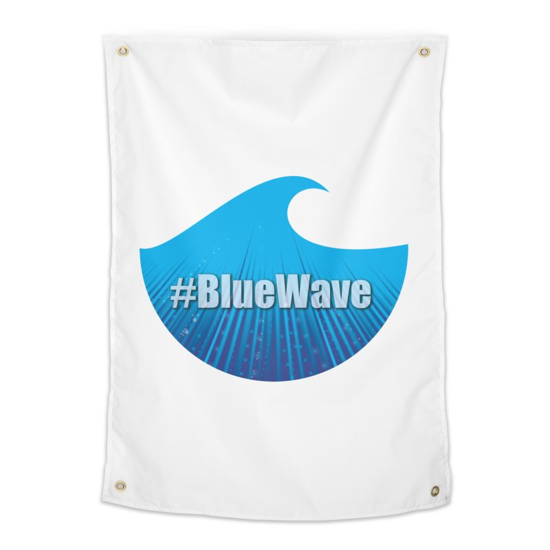 The Blue Wave Home Tapestry by Make a statement, laugh, enjoy.