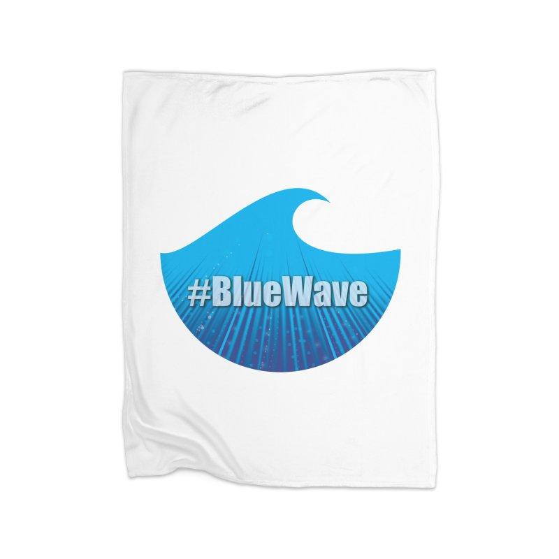 The Blue Wave Home Fleece Blanket Blanket by Make a statement, laugh, enjoy.