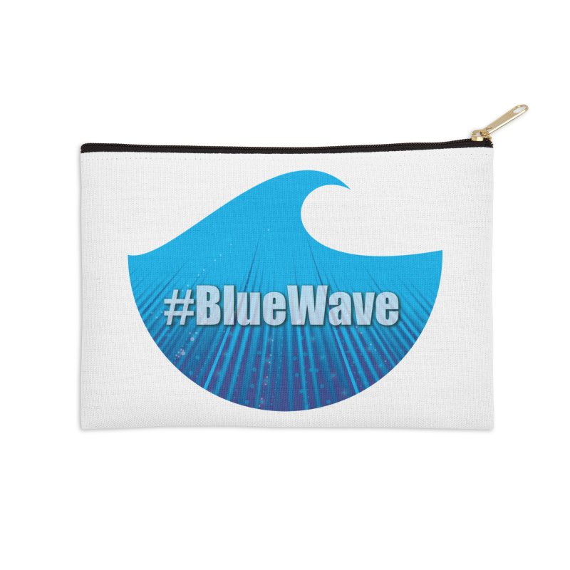 The Blue Wave Accessories Zip Pouch by Sporkshirts's tshirt gamer movie and design shop.