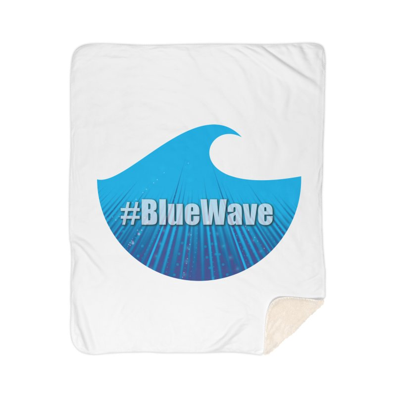 The Blue Wave Home Sherpa Blanket Blanket by Sporkshirts's tshirt gamer movie and design shop.