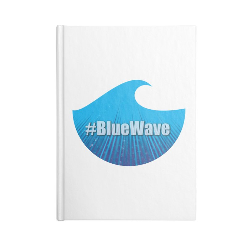 The Blue Wave Accessories Lined Journal Notebook by Make a statement, laugh, enjoy.
