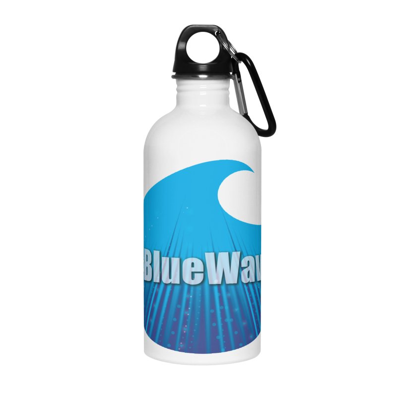 The Blue Wave Accessories Water Bottle by Make a statement, laugh, enjoy.