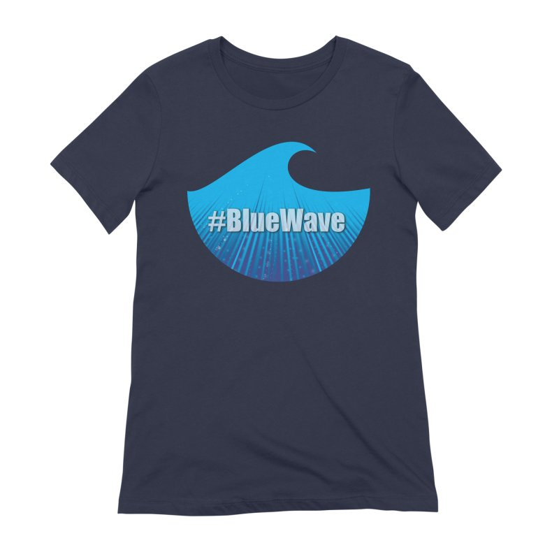 The Blue Wave in Women's Extra Soft T-Shirt Navy by Sporkshirts's tshirt gamer movie and design shop.
