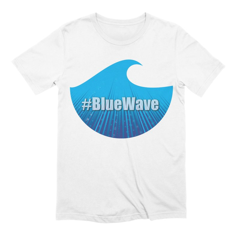 The Blue Wave Men's Extra Soft T-Shirt by Make a statement, laugh, enjoy.