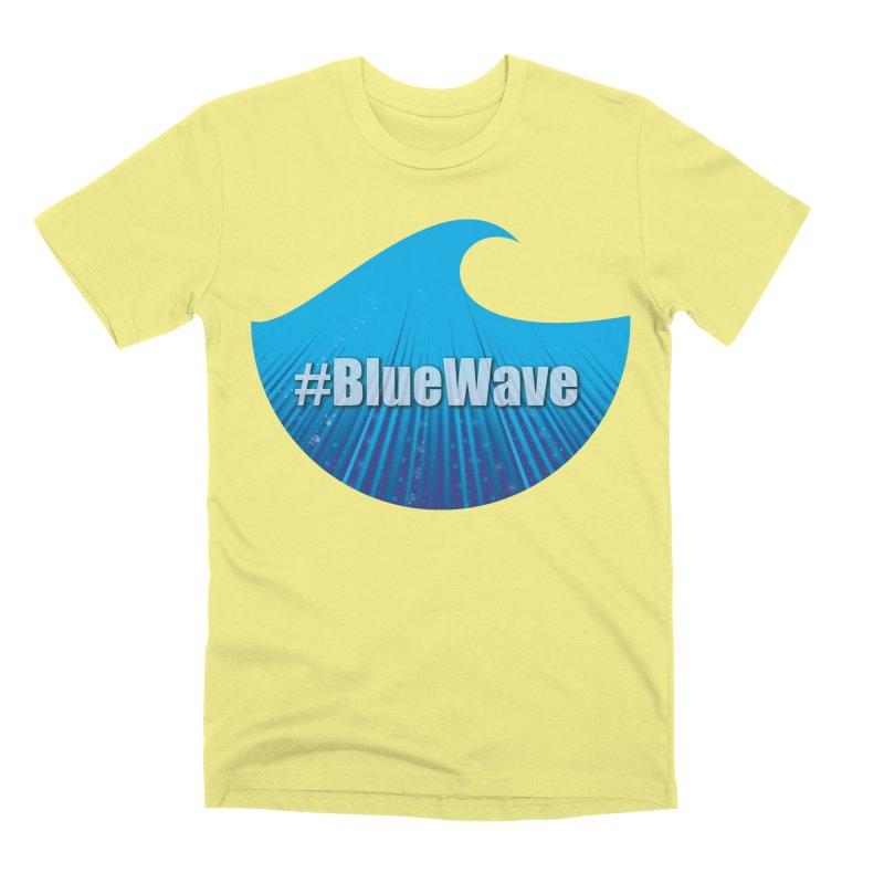 The Blue Wave Men's Premium T-Shirt by Sporkshirts's tshirt gamer movie and design shop.