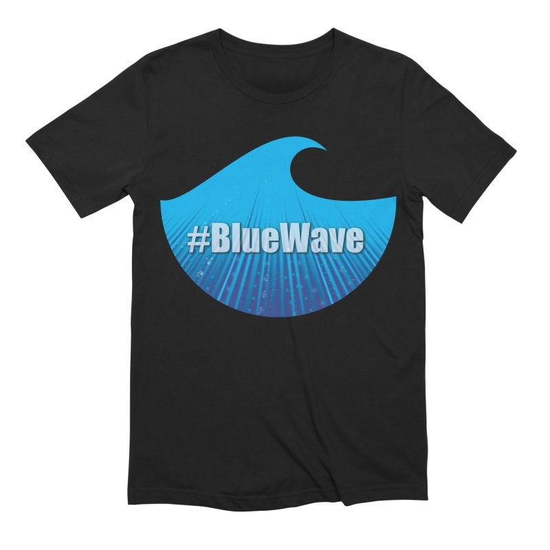 The Blue Wave Men's Extra Soft T-Shirt by Make a statement, laugh, enjoy.