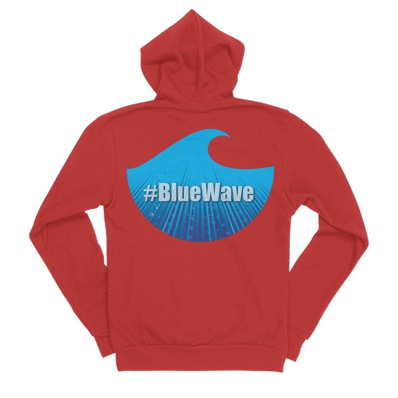The Blue Wave Men's Sponge Fleece Zip-Up Hoody by Sporkshirts's tshirt gamer movie and design shop.