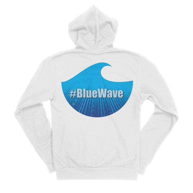 The Blue Wave Women's Sponge Fleece Zip-Up Hoody by Make a statement, laugh, enjoy.