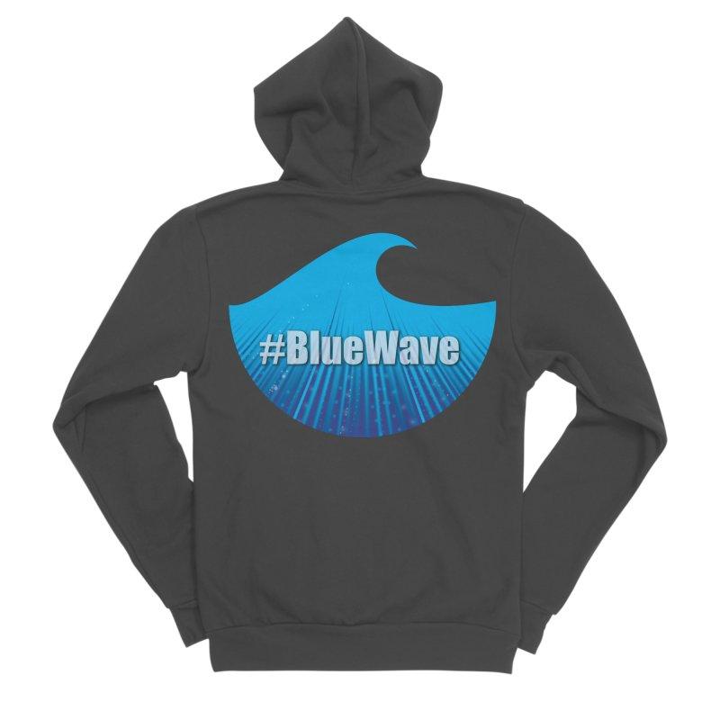 The Blue Wave Men's Sponge Fleece Zip-Up Hoody by Make a statement, laugh, enjoy.
