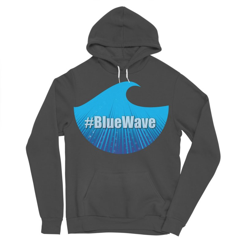 The Blue Wave Women's Sponge Fleece Pullover Hoody by Make a statement, laugh, enjoy.