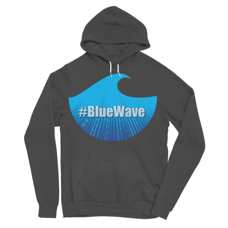 The Blue Wave Men's Sponge Fleece Pullover Hoody by Make a statement, laugh, enjoy.
