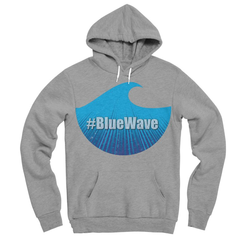 The Blue Wave Men's Sponge Fleece Pullover Hoody by Make a statement, laugh, enjoy.