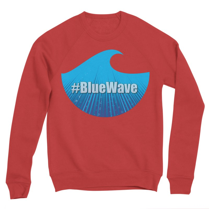 The Blue Wave Women's Sponge Fleece Sweatshirt by Make a statement, laugh, enjoy.