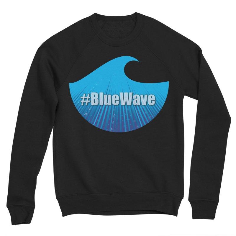 The Blue Wave Women's Sponge Fleece Sweatshirt by Make a statement, laugh, enjoy.