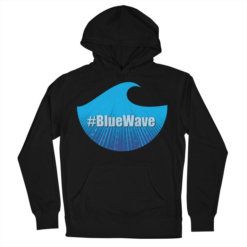 The Blue Wave Men's French Terry Pullover Hoody by Make a statement, laugh, enjoy.