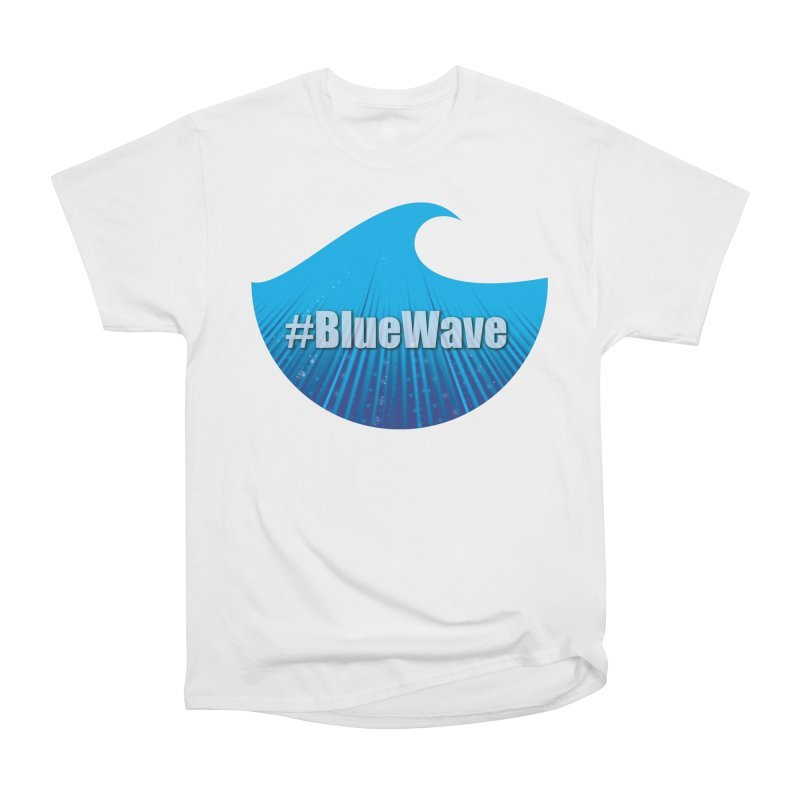 The Blue Wave Men's Heavyweight T-Shirt by Make a statement, laugh, enjoy.
