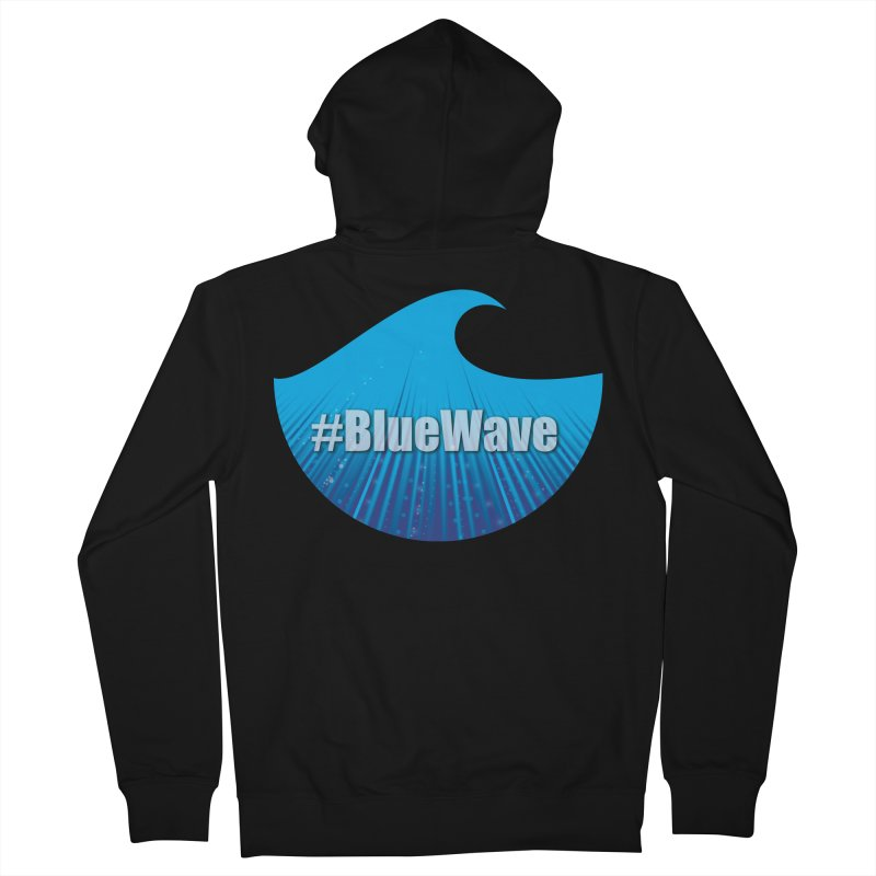 The Blue Wave Women's French Terry Zip-Up Hoody by Make a statement, laugh, enjoy.