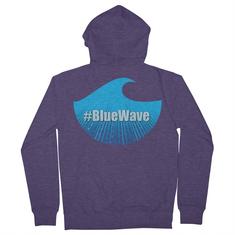 The Blue Wave Men's French Terry Zip-Up Hoody by Sporkshirts's tshirt gamer movie and design shop.