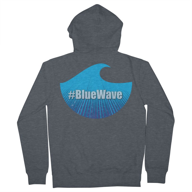 The Blue Wave Men's French Terry Zip-Up Hoody by Make a statement, laugh, enjoy.
