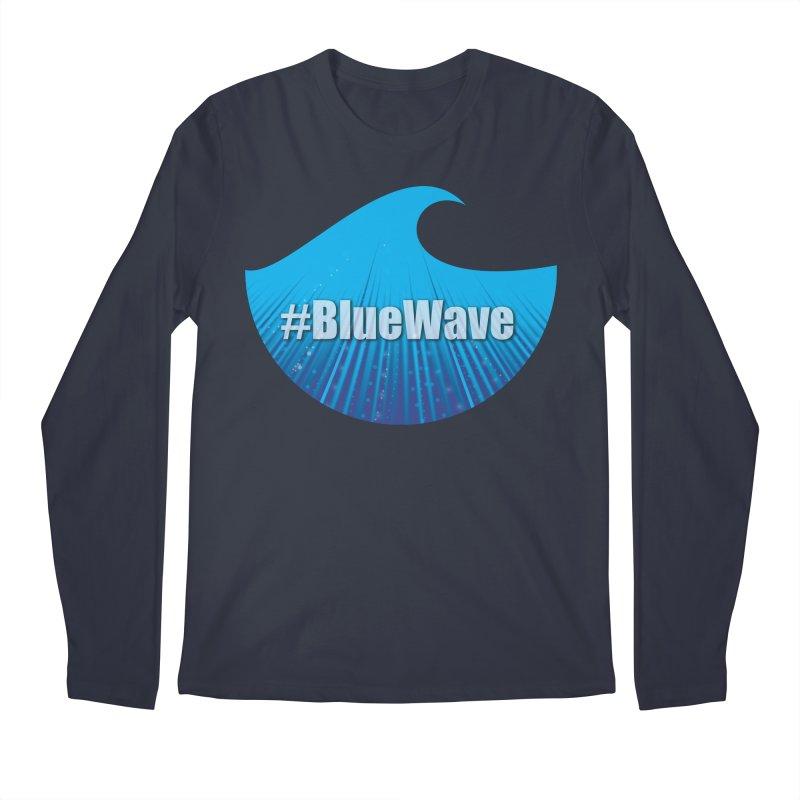 The Blue Wave Men's Regular Longsleeve T-Shirt by Sporkshirts's tshirt gamer movie and design shop.