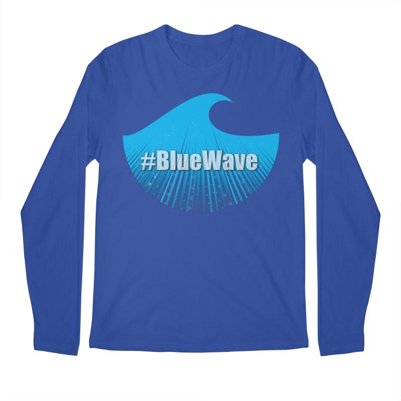 The Blue Wave Men's Regular Longsleeve T-Shirt by Make a statement, laugh, enjoy.