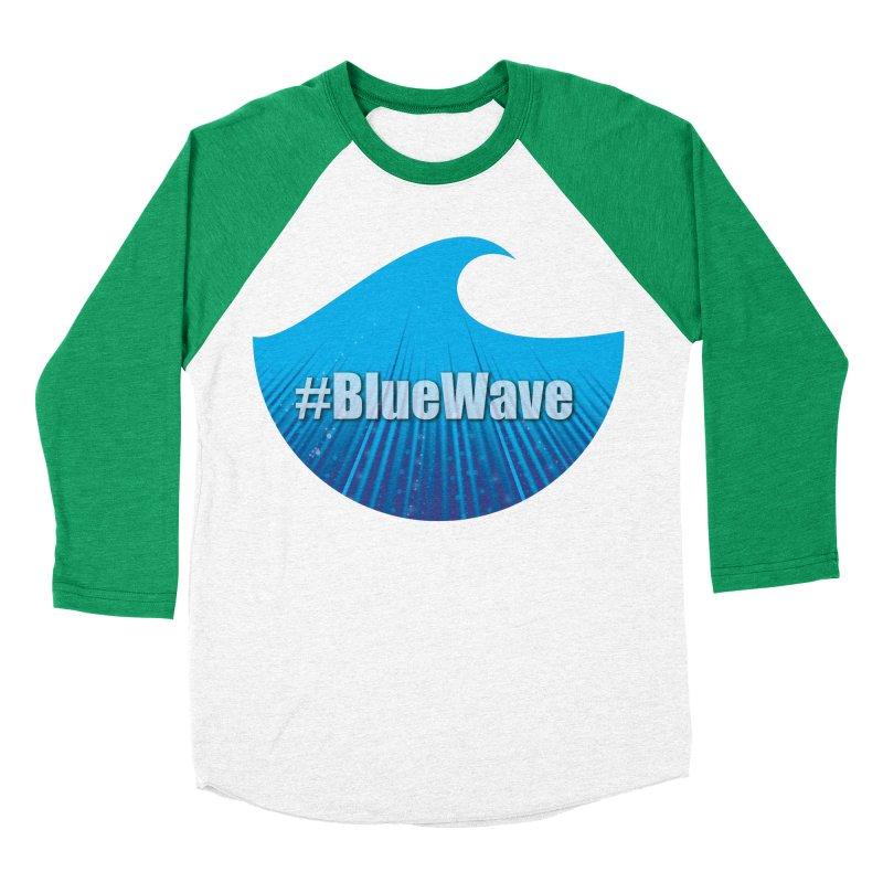 The Blue Wave Women's Baseball Triblend Longsleeve T-Shirt by Sporkshirts's tshirt gamer movie and design shop.