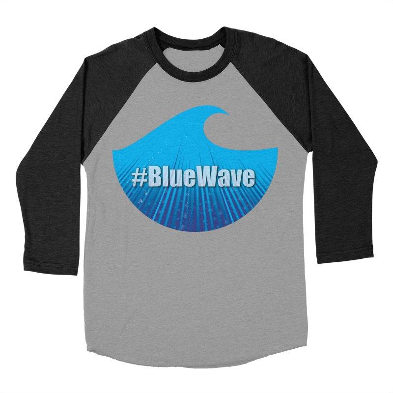 The Blue Wave Women's Baseball Triblend Longsleeve T-Shirt by Make a statement, laugh, enjoy.