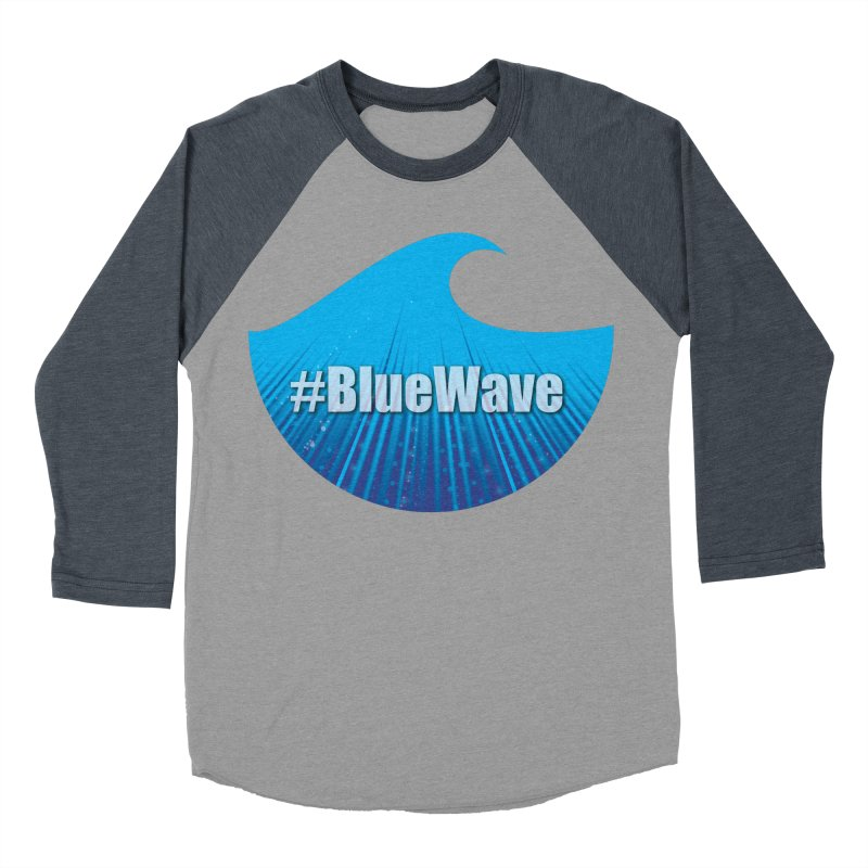 The Blue Wave Women's Baseball Triblend Longsleeve T-Shirt by Make a statement, laugh, enjoy.