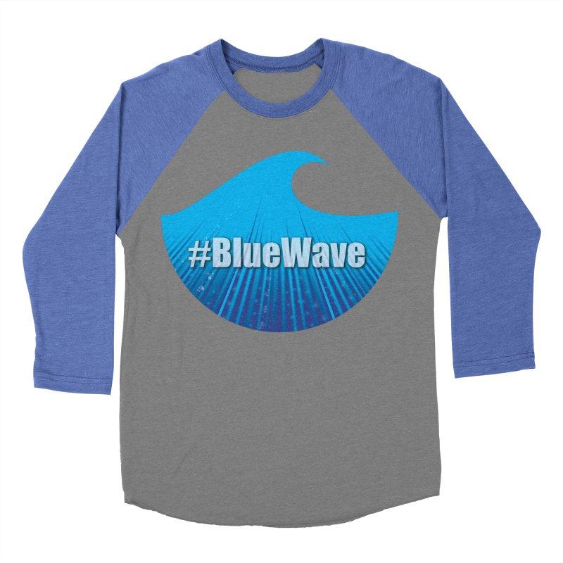 The Blue Wave Men's Baseball Triblend Longsleeve T-Shirt by Make a statement, laugh, enjoy.