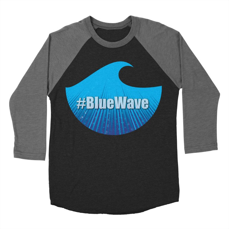 The Blue Wave Men's Baseball Triblend Longsleeve T-Shirt by Make a statement, laugh, enjoy.