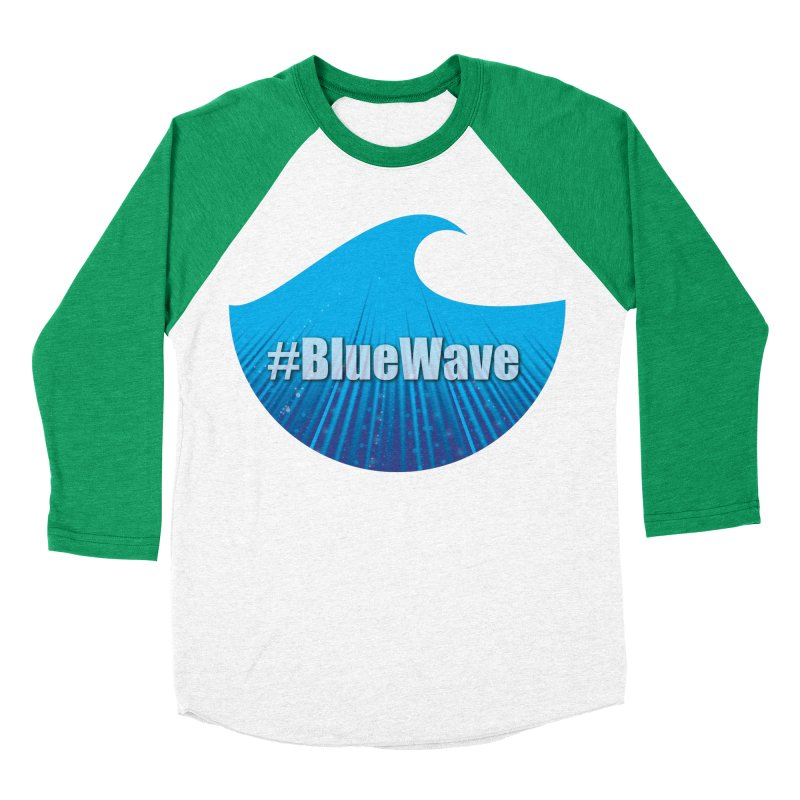 The Blue Wave Men's Baseball Triblend Longsleeve T-Shirt by Sporkshirts's tshirt gamer movie and design shop.
