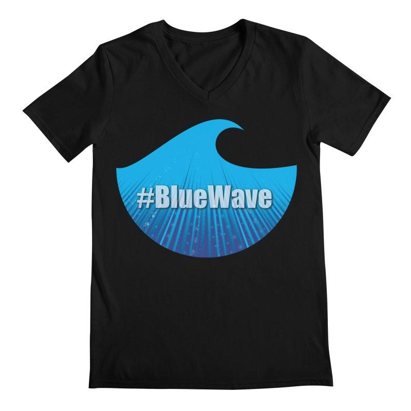 The Blue Wave Men's Regular V-Neck by Make a statement, laugh, enjoy.