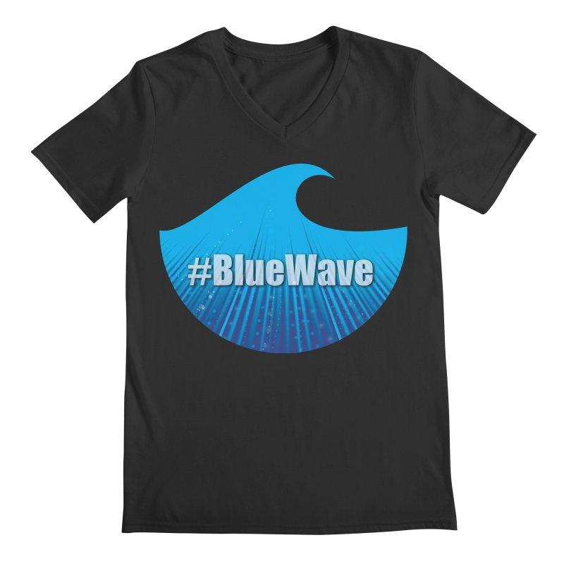 The Blue Wave Men's Regular V-Neck by Sporkshirts's tshirt gamer movie and design shop.